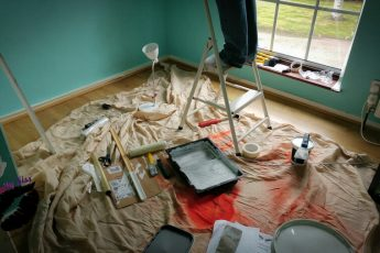 chaos of Decorating and painting a bedroom