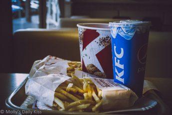 KFC chicken dinner