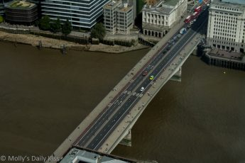 Looking down on London Bridge from the Shard