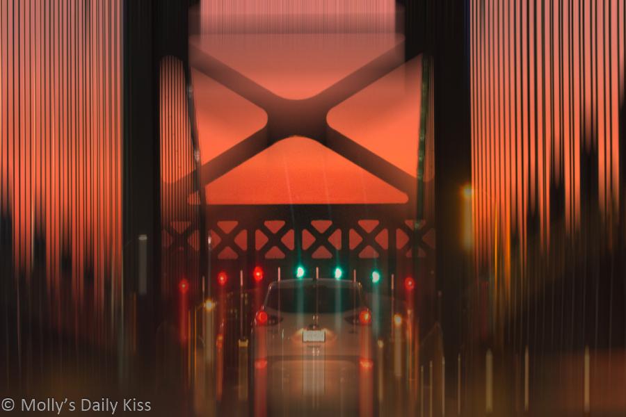 Strange lights on Ben Franklin Bridge Philadelphia