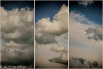 cloud triptych