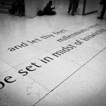 Midst of Knowledge Tennyson poem on floor of British museum