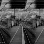 Triptych of train lines choices of your path