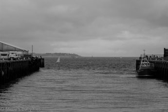 grey skies and wild sea at Whitstable