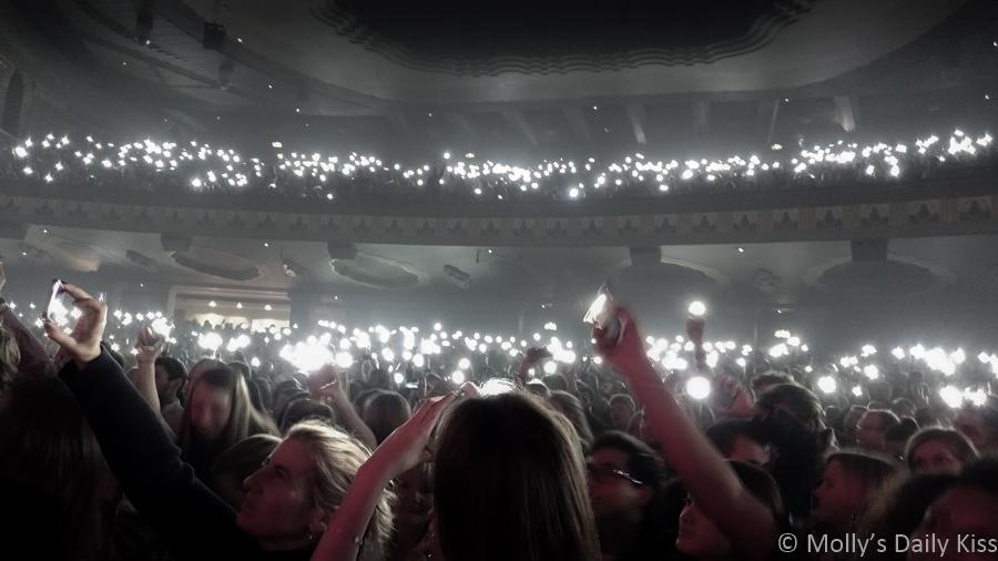 Mobile phone lights at Passenger concert in London, little lights song