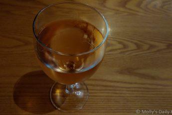 Glass of rose wine sensory perfection