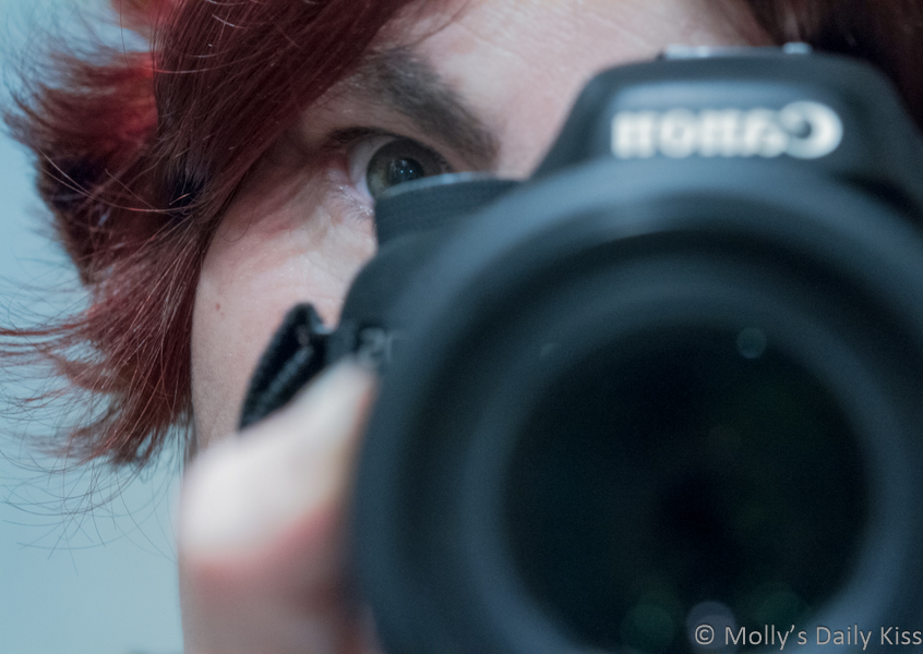 Self portrait of molly with the camera