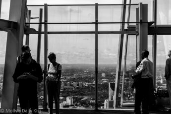 People looking at the view from the top of the Shard