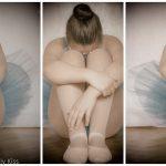 Girl ballet dances triptych