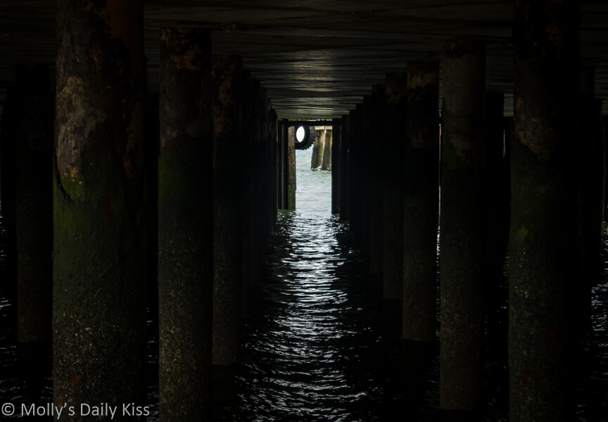 Beneath the pier at Whistable