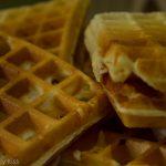 Macro shot of waffle