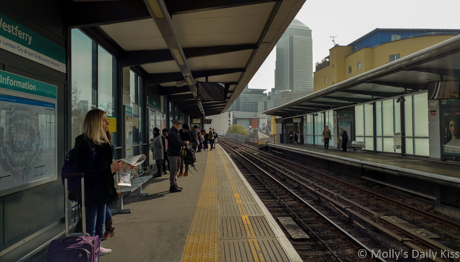Westferry station on the docklands light railway