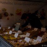 Italian cannoli market stall Kings Cross London