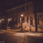 Streetlights in Philadelphia old town