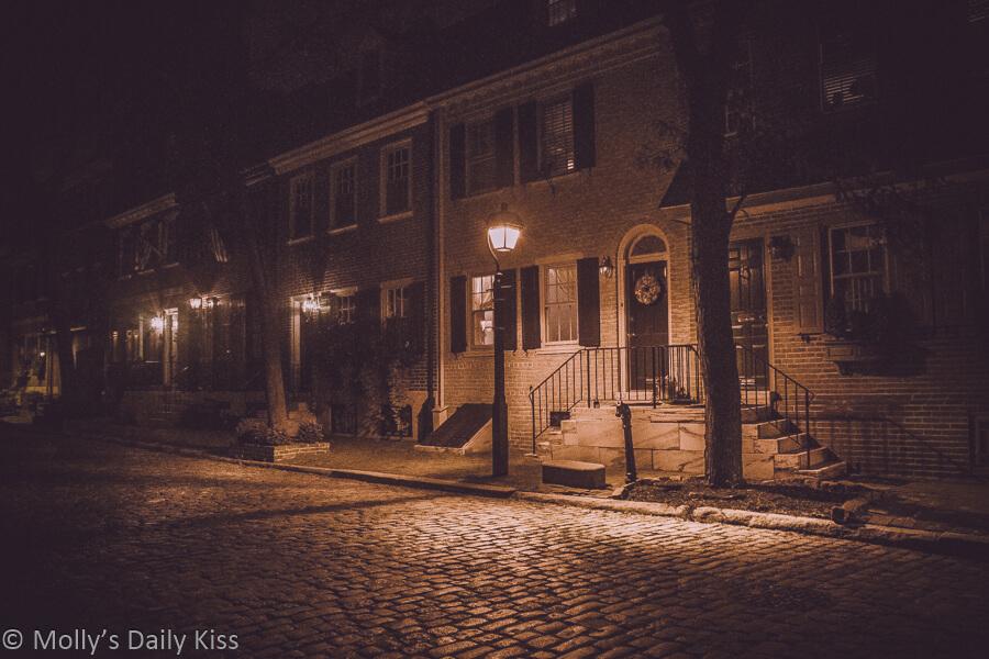 Streetlights in Philadelphia old town