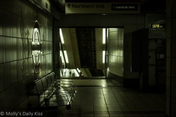 London underground platform Bank station