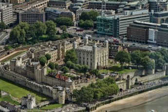 Tower of london ariel shot from the Shard