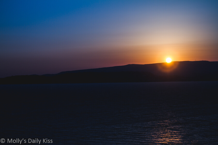 Blue sunset over Kefalonia