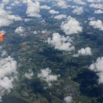 view from Easyjet flight coming into land at Gatwick