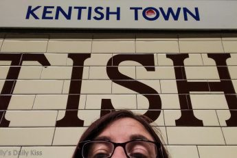 Self portrait of Molly at Kentish Town tube station