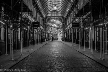Leanenhall Market in black and white