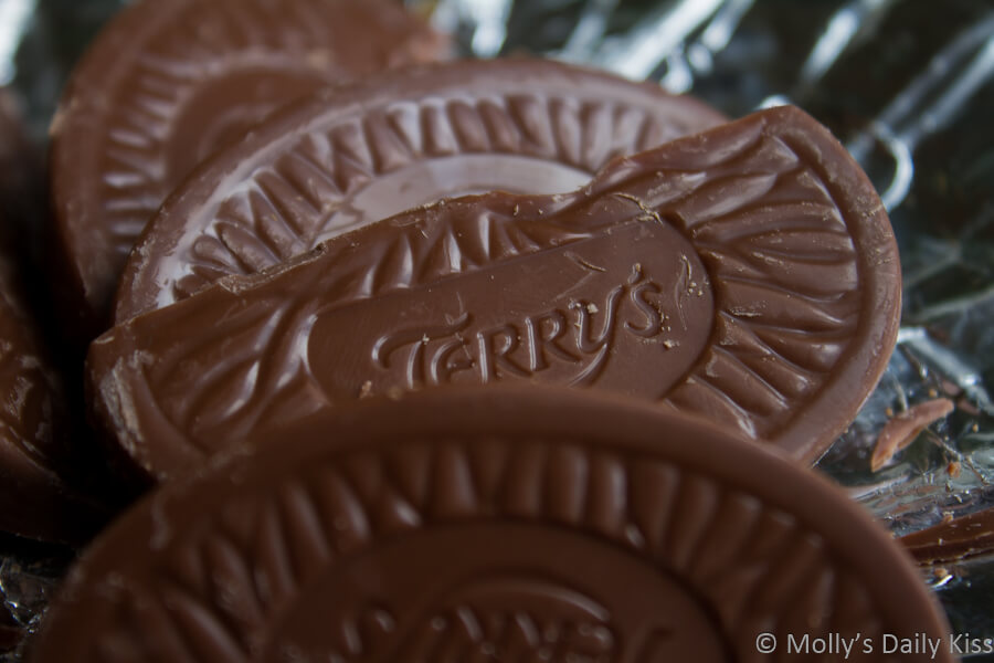macro shot of Terry's Chocolate Orange is my chocolate weakness