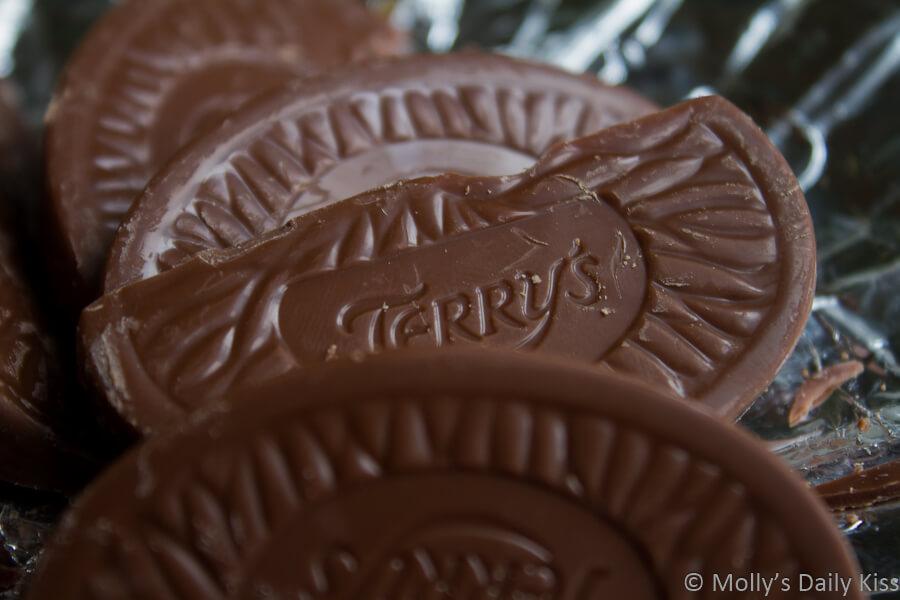 macro shot of Terry's Chocolate Orange is my chocolate weakness