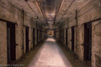 Prison corridor in Eastern State Penitentary