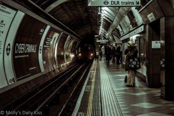 Bank underground platform London