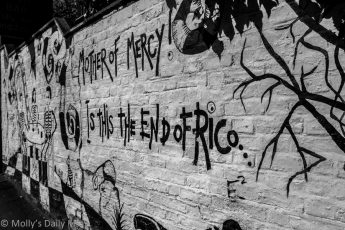 Mother of Mercy is the end of Rico written on wall