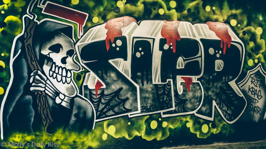 grim reaper graffiti