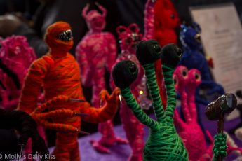 Monsters made from wool