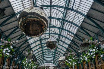 Giant shine balls in covent garden for Christmas