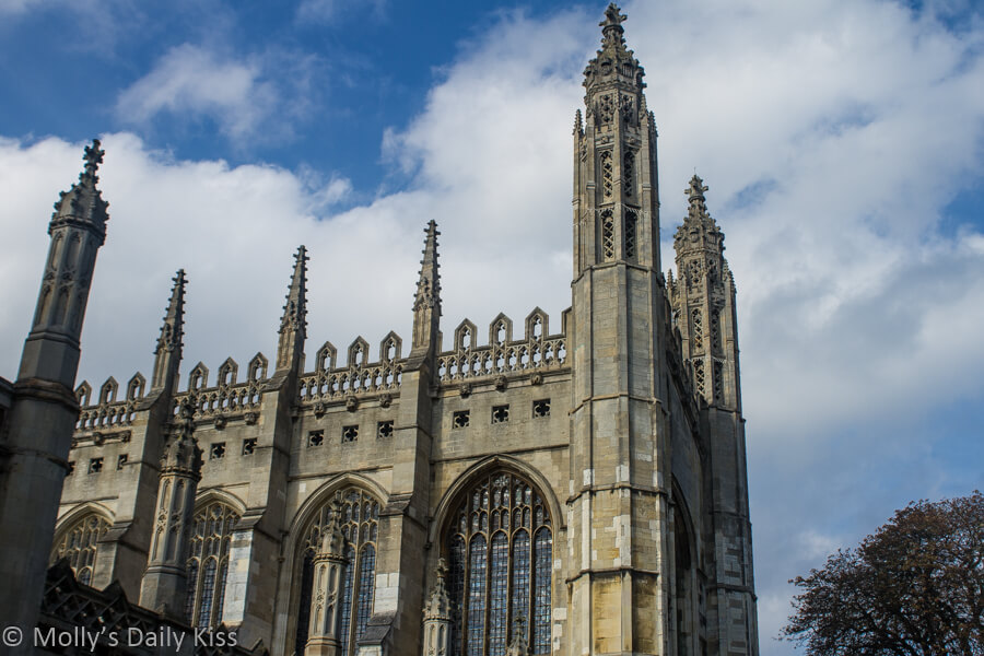 Kings College Cambridge against blue sky