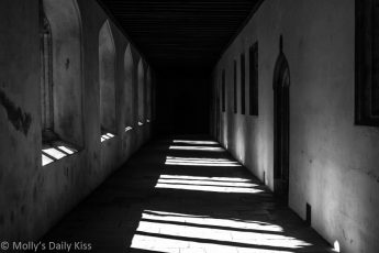 Black and White of cloisters in Oxford