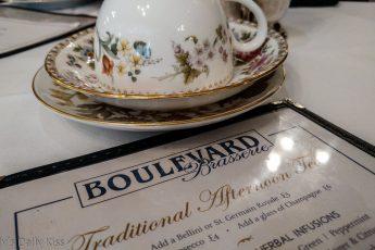 tea menu Boulevard Brasserie London