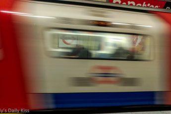 London tube train moving train