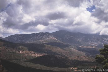 clouds over the mountains in Kefalonia