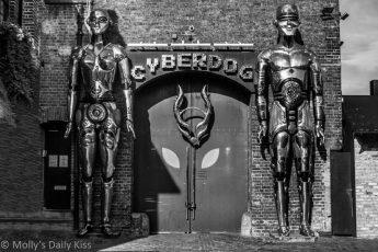 Robots outside Cyberdog in Camden Market