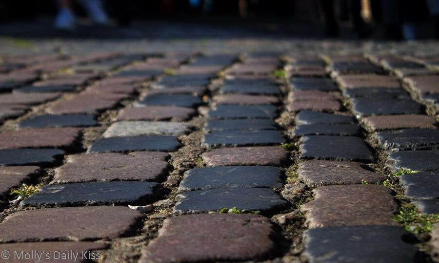 cobble-stones in camden market