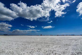 Clouds and blue sky above Siesta Key beach