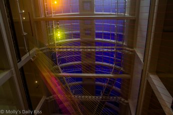 colour lights in the roof of the science museum london