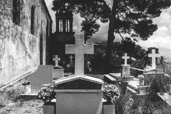 Agios Theodoro church graveyard kefalonia in greece