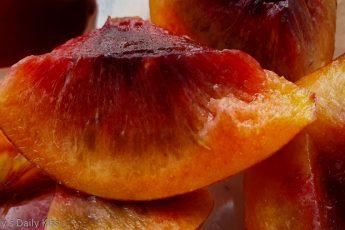 macro shot of nectarine