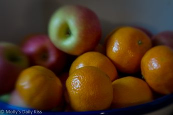 fruit bowl with apples and oranges