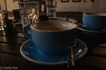 two cups of finished coffee on the table