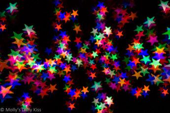 Colour bokeh star lights