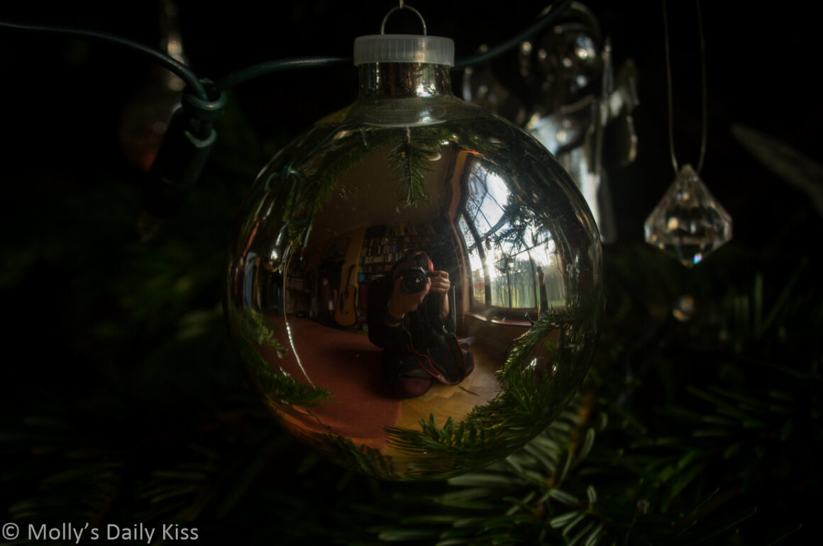 Self potrait relfection in Christmas bauble