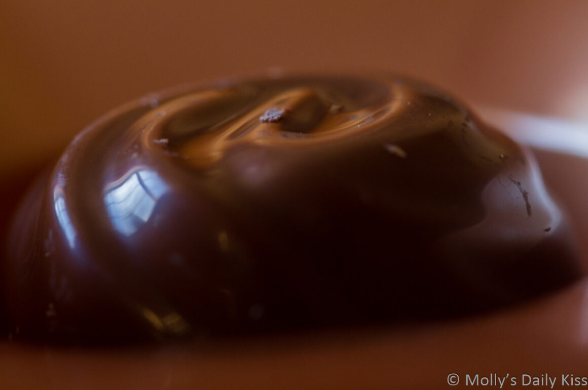 Reflection in chocolate is a mood
