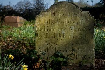 gravestone from 1753